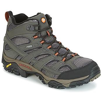 Sapatos Homem Sapatos de caminhada Merrell MOAB 2 MID GTX Cinza
