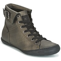 Sapatos Mulher Sapatilhas de cano-alto PLDM by Palladium GLADYS DST Cinza / Ouro