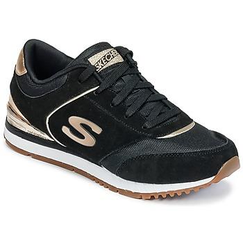 Sapatos Mulher Sapatilhas Skechers SUNLITE Preto / Dourado