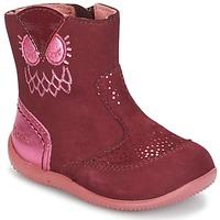 Sapatos Rapariga Botas baixas Kickers BRETZELLE Rosa / Escuro