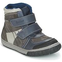 Sapatos Rapaz Botas de neve Kickers SITROUILLE Cinza / Escuro / Azul