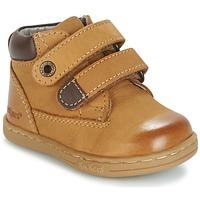 Sapatos Rapaz Botas baixas Kickers TACKEASY Camel