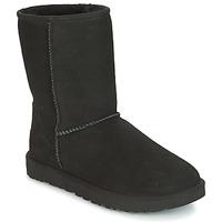Sapatos Mulher Botas baixas UGG CLASSIC SHORT II Preto