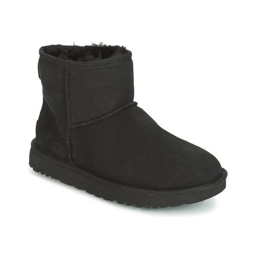 Sapatos Mulher Botas baixas UGG CLASSIC MINI II Preto