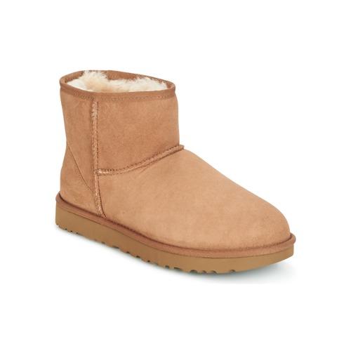 Sapatos Mulher Botas baixas UGG CLASSIC MINI II Camel
