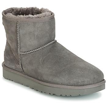 Sapatos Mulher Botas baixas UGG CLASSIC MINI II Cinza