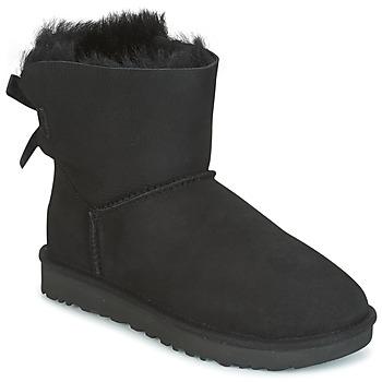 Sapatos Mulher Botas baixas UGG MINI BAILEY BOW II Preto