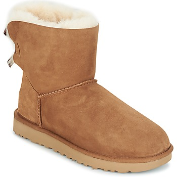 Sapatos Mulher Botas baixas UGG MINI BAILEY BOW II Castanho