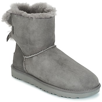 Sapatos Mulher Botas baixas UGG MINI BAILEY BOW II Cinza
