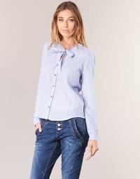 Textil Mulher camisas Cream CAMA STRIPED SHIRT Azul