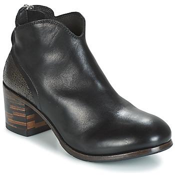 Sapatos Mulher Botas baixas Moma CUSNA NERO/ TALON TACO MIX, ARRIRE AFRICA Preto / Prateado