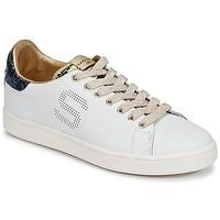 Sapatos Mulher Sapatilhas Serafini J.CONNORS Branco / Azul / Dourado