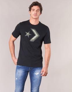 Textil Homem T-Shirt mangas curtas Converse DIMENSIONAL LAYER STAR CHEVRON TEE Preto