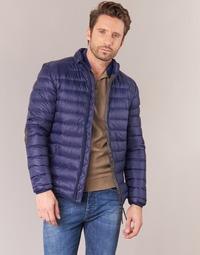 Textil Homem Quispos Vicomte A. DOUDOUNE HOMME MANCHES LONGUES NAVY Marinho