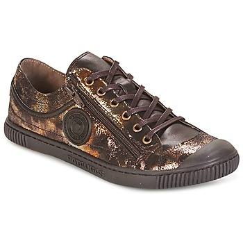 Sapatos Mulher Sapatilhas Pataugas BISK Bronze