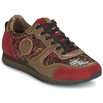 Sapatos Mulher Sapatilhas Pataugas IDOL Vermelho / Castanho