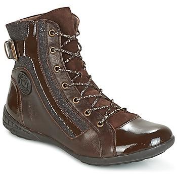 Sapatos Mulher Sapatilhas de cano-alto Pataugas NOUR Castanho