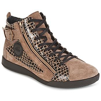 Sapatos Mulher Sapatilhas de cano-alto Pataugas PALME Bege