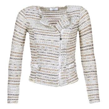 Textil Mulher Casacos/Blazers Le Temps des Cerises MIRABEAU Bege / Branco