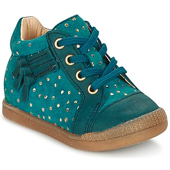 Sapatos Rapariga Sapatilhas de cano-alto Babybotte FALSIFI Turquesa / Ouro