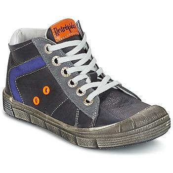 Sapatos Rapaz Sapatilhas de cano-alto Babybotte KANADA Cinza / Escuro
