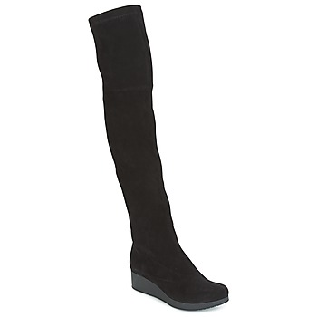 Sapatos Mulher Botas altas Robert Clergerie Natun-VELOURS-STRETCH-NOIR Preto