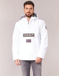 Textil Homem Casacos Napapijri RAINFOREST Branco
