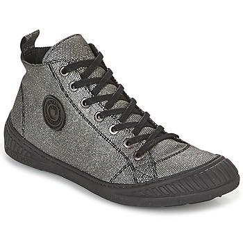 Sapatos Mulher Sapatilhas de cano-alto Pataugas ROCKER Prateado