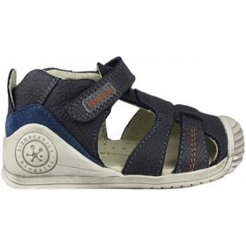 Sapatos Criança Sandálias Biomecanics SANDALIA CERRADA PIEL AZUL