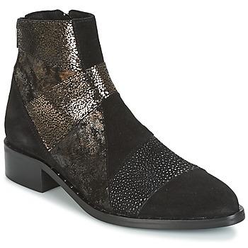 Sapatos Mulher Botas baixas Philippe Morvan SILKO V1 CR VEL NOIR Preto