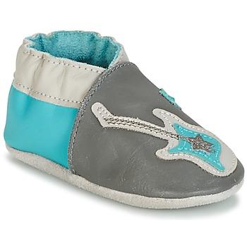 Sapatos Rapaz Pantufas bebé Robeez SUPERSTAR ROCK Azul / Cinza