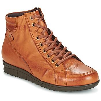 Sapatos Mulher Sapatilhas de cano-alto Pitillos 2631 Conhaque