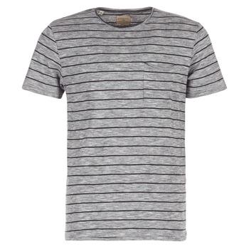 Textil Homem T-Shirt mangas curtas Selected FINN Cinza / Preto