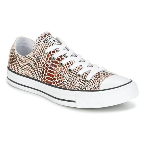 Sapatos Mulher Sapatilhas Converse CHUCK TAYLOR ALL STAR FASHION SNAKE OX BROWN/BLACK/WHITE Preto / Branco