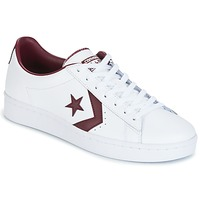 Sapatos Homem Sapatilhas Converse PL 76 FOUNDATIONAL LEATHER WITH ELEVATED DETAILING OX WHITE/DEEP Branco / Bordô