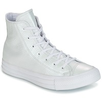 Sapatos Mulher Sapatilhas de cano-alto Converse CHUCK TAYLOR ALL STAR IRIDESCENT LEATHER HI IRIDESCENT LEATHER H Branco