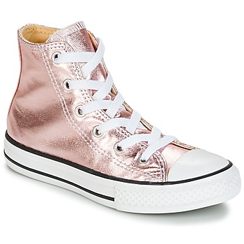 Sapatos Rapariga Sapatilhas de cano-alto Converse CHUCK TAYLOR ALL STAR METALLIC SEASONAL HI METALLIC SEASONAL HI Rosa / Branco / Preto