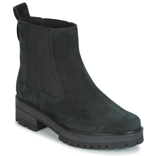 Sapatos Mulher Botas baixas Timberland COURMAYER VALLEY CHELSEA Preto