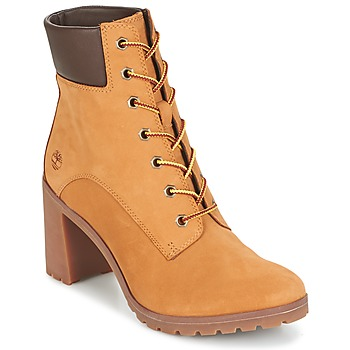 Sapatos Mulher Botins Timberland ALLINGTON 6IN LACE UP Castanho