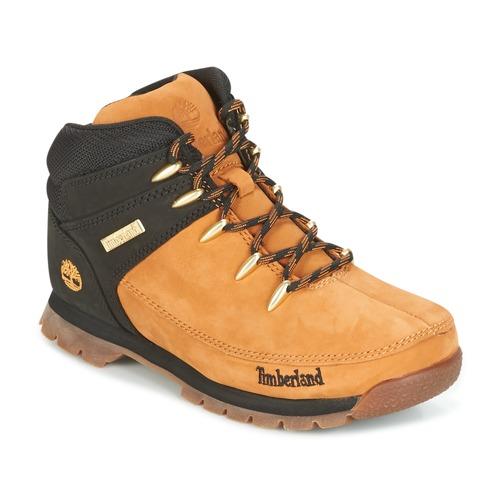 Sapatos Criança Botas baixas Timberland EURO SPRINT Castanho