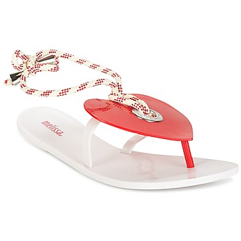 Sapatos Mulher Chinelos Melissa BLISS II SP AD Branco / Vermelho