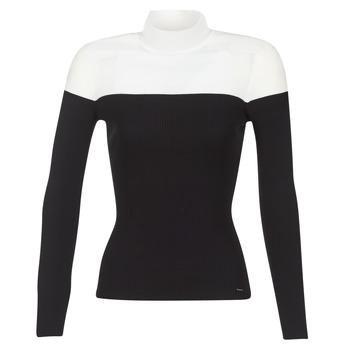 Textil Mulher camisolas Morgan MICO Preto / Branco