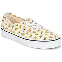 Sapatos Sapatilhas Vans AUTHENTIC SNOOPY Branco / Amarelo