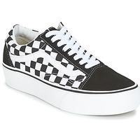 Sapatos Mulher Sapatilhas Vans UA OLD SKOOL PLATFORM Preto / Branco
