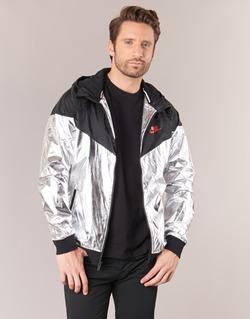 Textil Homem Corta vento Nike WINDRUNNER METALLIC Preto / Prateado