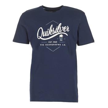 Textil Homem T-Shirt mangas curtas Quiksilver CLATESEATALES Marinho