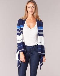 Textil Mulher Casacos de malha Casual Attitude IHARINE Marinho / Branco