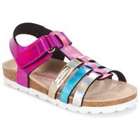 Sapatos Rapariga Sandálias Les Tropéziennes par M Belarbi POLINA Rosa / Azul / Prata
