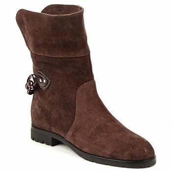 Sapatos Mulher Botas baixas Marc Jacobs CHAIN BOOTS Castanho