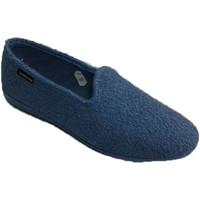 Sapatos Mulher Chinelos Made In Spain 1940 Chinelo de estar em casa na toalha azul azul